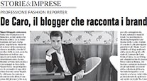 CHIAIA MAGAZINE – Professione fashion reporter – De Caro, il blogger che racconta i brand