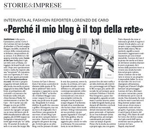 CHIAIA MAGAZINE – «Perché il mio blog è il top della rete»