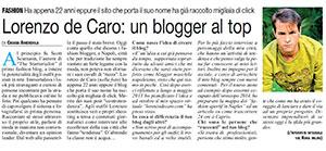 IL ROMA – «Lorenzo De Caro: un Blogger al top»