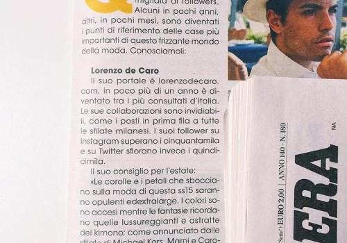 """Corriere della Sera / Mezzogiorno – I Fashion Blogger Campani – Numero speciale """"Vivi Campania"""""""