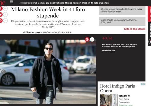 Marie Claire – MILANO Fashion Week, gli uomini più cool
